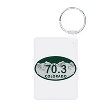 70.3 Colo License Plate Aluminum Photo Keychain
