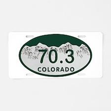 70.3 Colo License Plate Aluminum License Plate