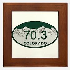 70.3 Colo License Plate Framed Tile