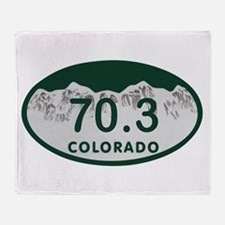 70.3 Colo License Plate Throw Blanket