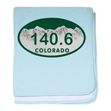 140.6 Colo License Plate baby blanket