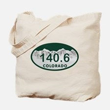 140.6 Colo License Plate Tote Bag