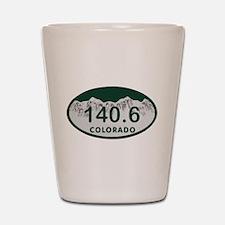 140.6 Colo License Plate Shot Glass