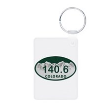 140.6 Colo License Plate Aluminum Photo Keychain