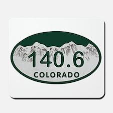 140.6 Colo License Plate Mousepad