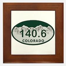 140.6 Colo License Plate Framed Tile