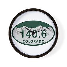 140.6 Colo License Plate Wall Clock