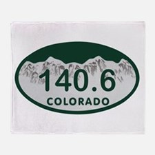 140.6 Colo License Plate Throw Blanket