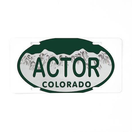 Actor Colo License Plate Aluminum License Plate