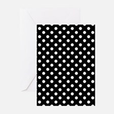 Black and White Polka Dot Greeting Cards (Pk of 20