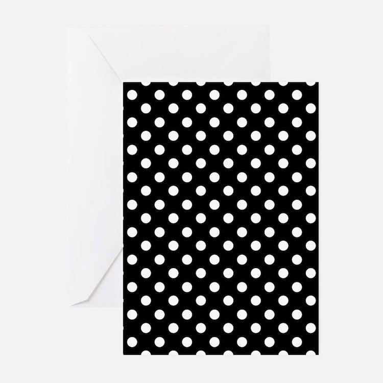 Black and White Polka Dot Greeting Cards (Pk of 20