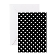 Black and White Polka Dot Greeting Card