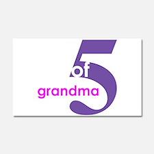 Unique Mothers day grandma Car Magnet 20 x 12