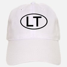 LT - Initial Oval Baseball Baseball Cap