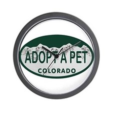 Adopt a Pet Colo License Plate Wall Clock