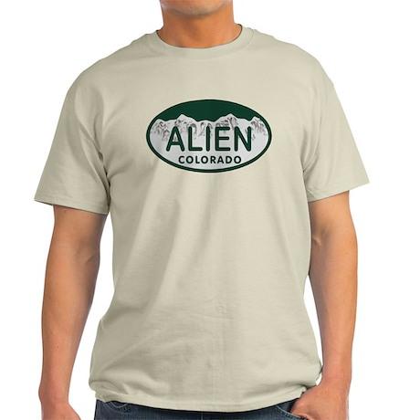 Alien Colo License Plate Light T-Shirt
