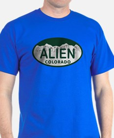 Alien Colo License Plate T-Shirt