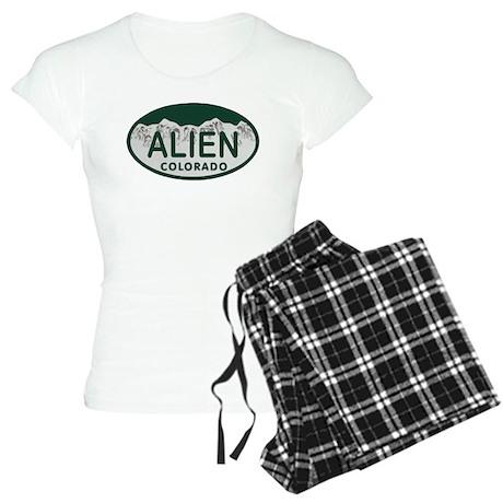 Alien Colo License Plate Women's Light Pajamas