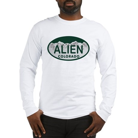 Alien Colo License Plate Long Sleeve T-Shirt