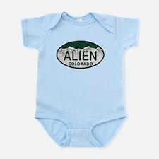 Alien Colo License Plate Infant Bodysuit