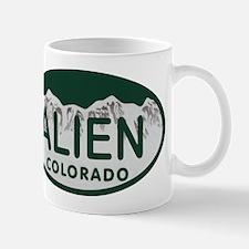 Alien Colo License Plate Mug