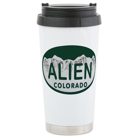 Alien Colo License Plate Stainless Steel Travel Mu