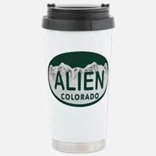 Alien Colo License Plate Travel Mug