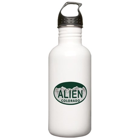 Alien Colo License Plate Stainless Water Bottle 1.