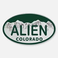 Alien Colo License Plate Sticker (Oval)