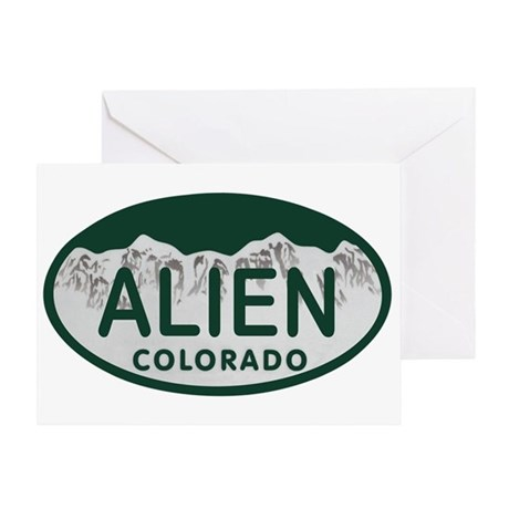 Alien Colo License Plate Greeting Card
