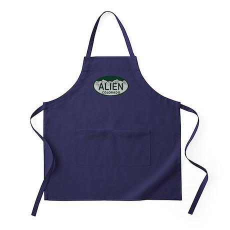 Alien Colo License Plate Apron (dark)