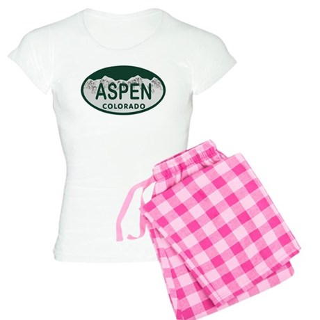 Aspen Colo License Plate Women's Light Pajamas