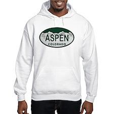 Aspen Colo License Plate Hoodie Sweatshirt