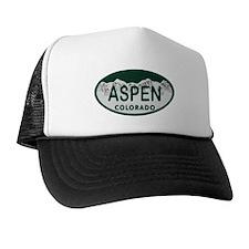 Aspen Colo License Plate Trucker Hat