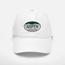 Aspen Colo License Plate Baseball Baseball Cap