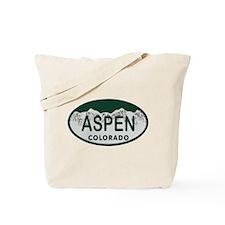 Aspen Colo License Plate Tote Bag