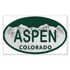 Aspen Colo License Plate Decal