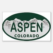 Aspen Colo License Plate Decal