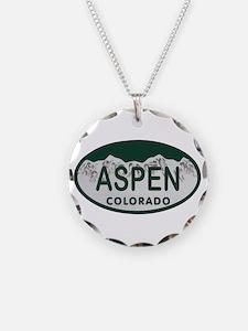 Aspen Colo License Plate Necklace