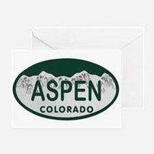 Aspen Colo License Plate Greeting Card