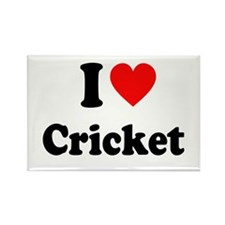 I Heart Cricket Rectangle Magnet