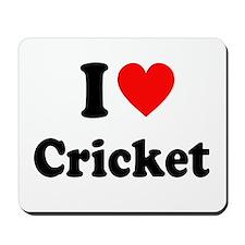 I Heart Cricket Mousepad