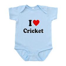 I Heart Cricket Infant Bodysuit