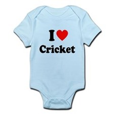 I Heart Cricket Onesie