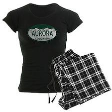 Aurora Colo License Plate Pajamas