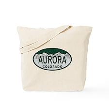 Aurora Colo License Plate Tote Bag