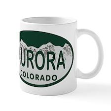Aurora Colo License Plate Mug