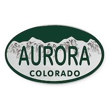 Aurora Colo License Plate Decal