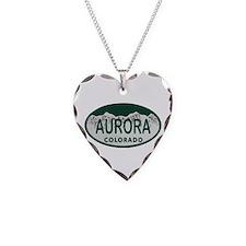 Aurora Colo License Plate Necklace