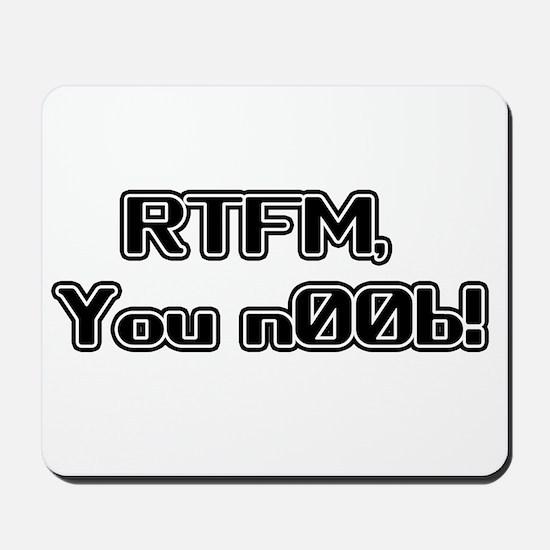 RTFM n00b Mousepad